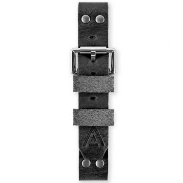 Handmade watch straps fastened black by WT Author