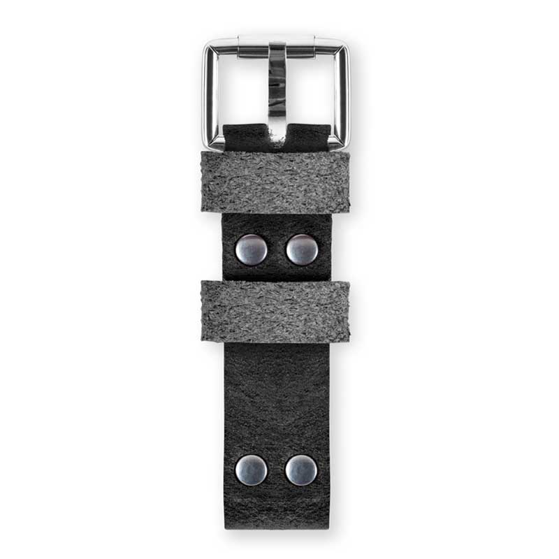 Handmade watch straps top black by WT Author