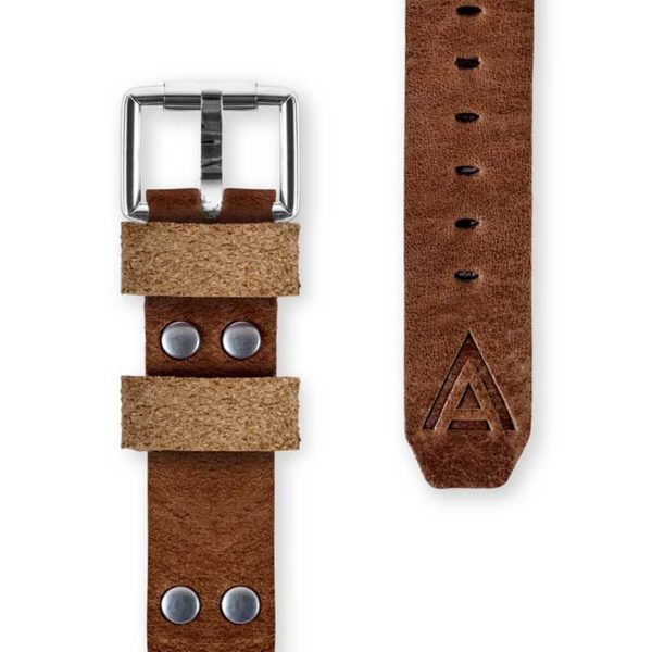 Handmade watch strap front brown by WT Author