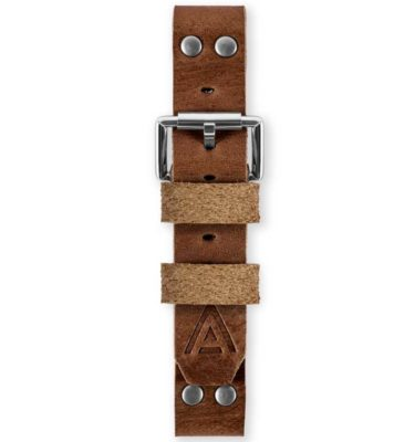 Handmade watch strap fastened brown by WT Author
