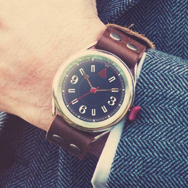 classic mens watch 'No. 1905' Wristshot Suit Built in Britain by W. T. Author