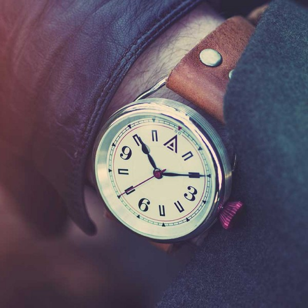 Leather Strap Watches for Men 'No. 1905' Jacket Wristshot Built in Britain by W. T. Author