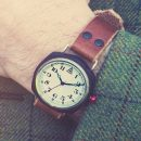 White Cushion Watch 'No. 1929' Countryside Wristshot Built in Britain by W. T. Author