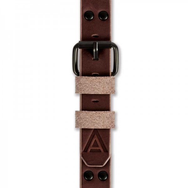 Bespoke leather watch straps fastened brown by WT Author
