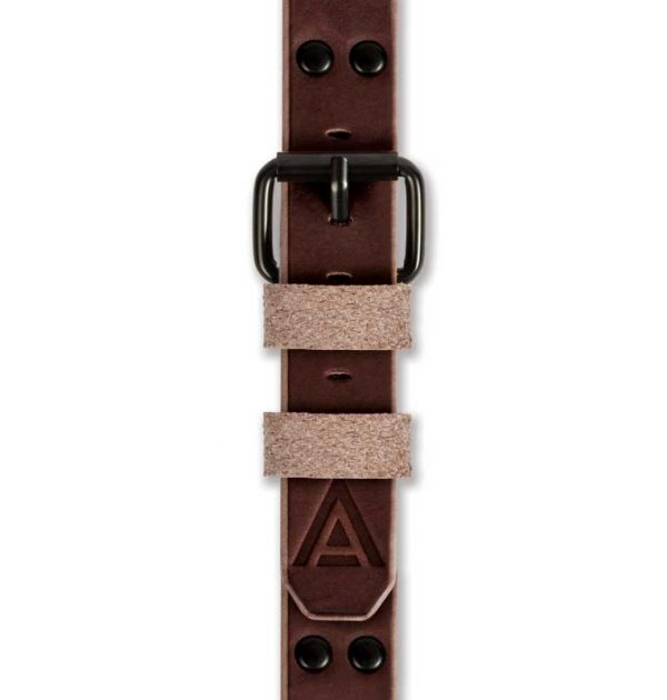 Brown Watch Strap Fastened Handmade by W T Author