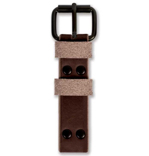 Brown Watch Strap Top View Handmade by W T Author