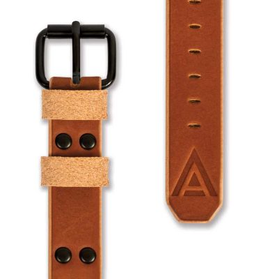 Trench watch strap front tan by WT Author