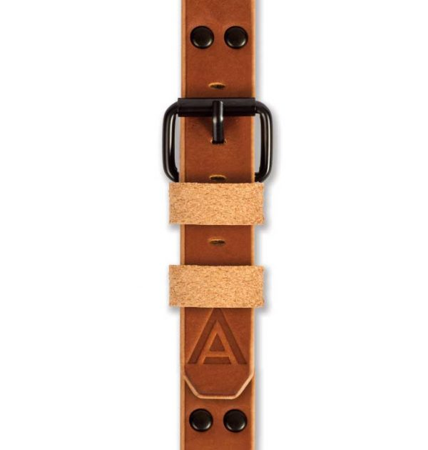 Tan Watch Strap Fastened Handmade by W T Author