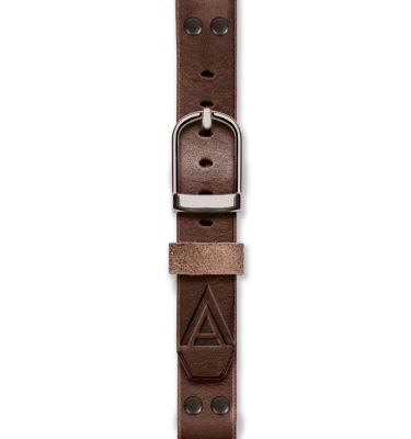 Handmade brown strap 'No. 1929' Silver Fastened View