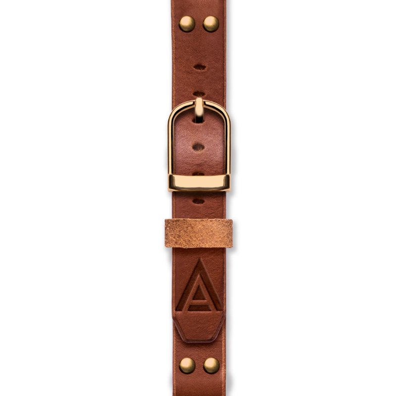 Handmade Leather Watch Straps 'No. 1929' Tan / Gold Fastened