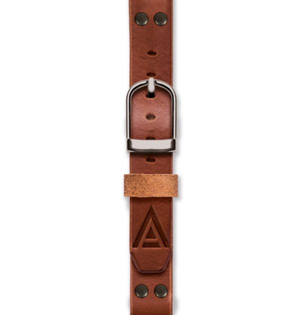 Handmade tan strap 'No. 1929' Silver Fastened View