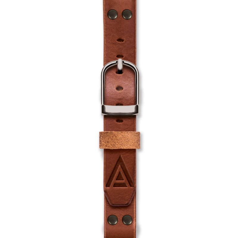 Custom Leather Watch Strap by WT Author Fastened
