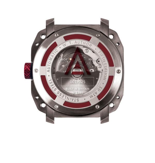 Aviator watch by wt author grey no 1940 back