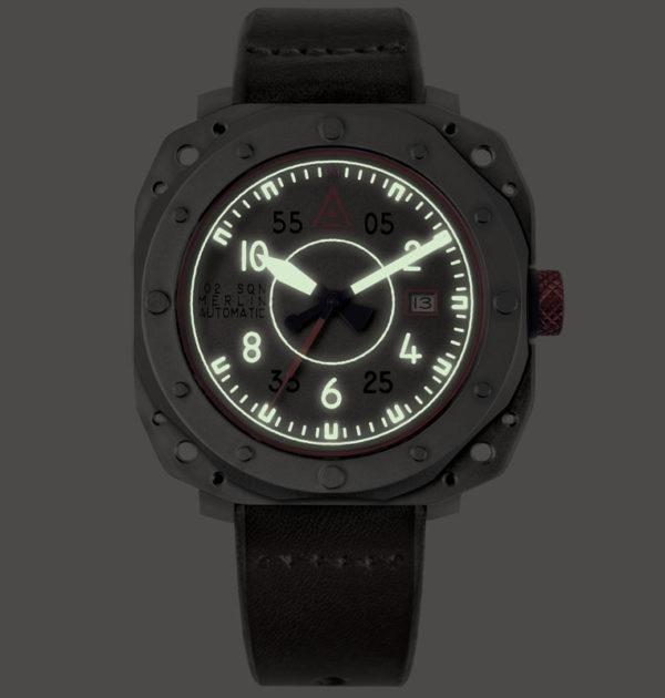 Aviator watch by wt author grey no 1940 lume