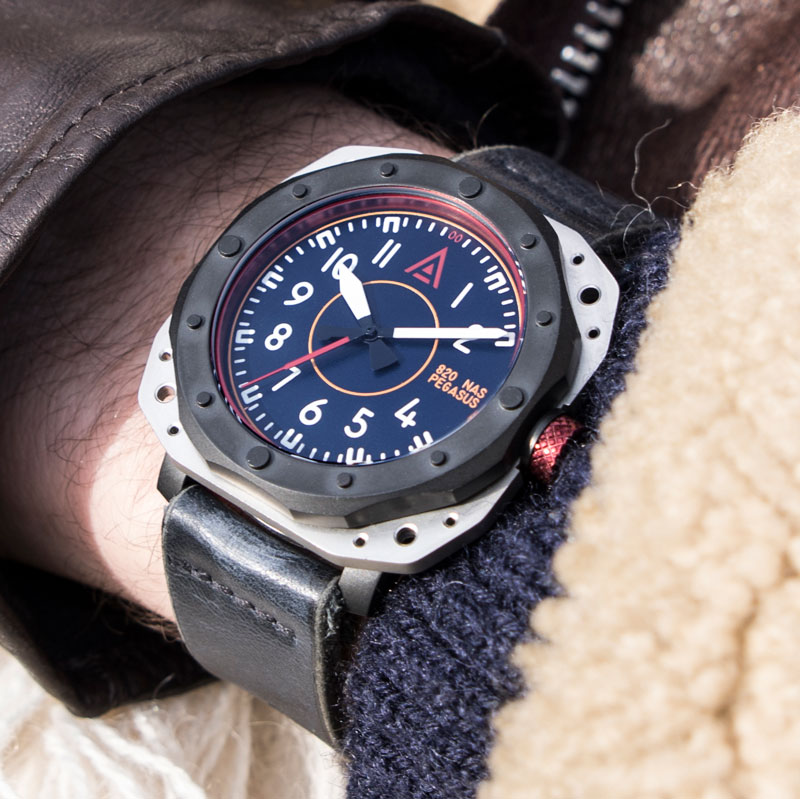 Aviator watches by wt author blue no 1940 wrist