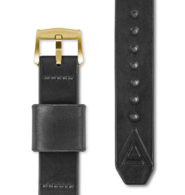 black handmade watch strap full