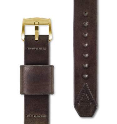 brown leather watch strap full