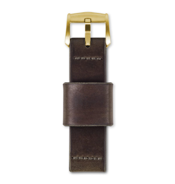 brown leather watch strap top