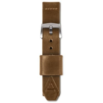 tan watch band full fastened