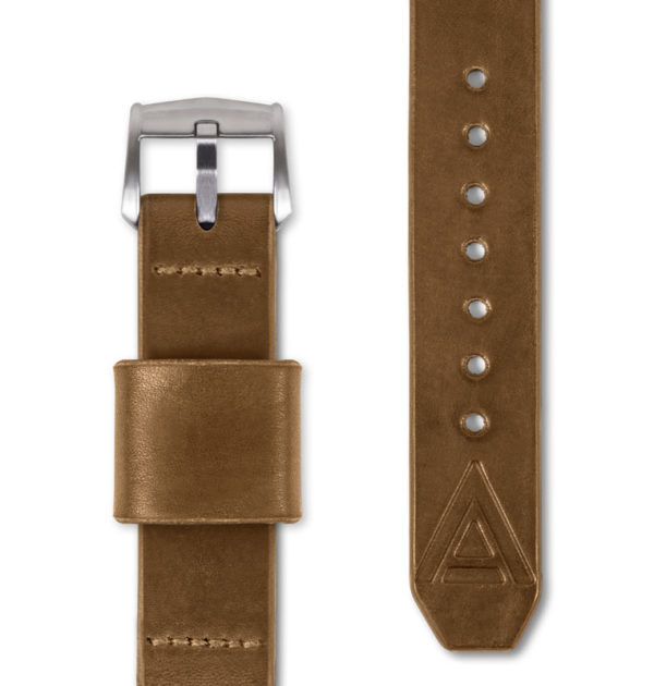 tan handmade watch strap full