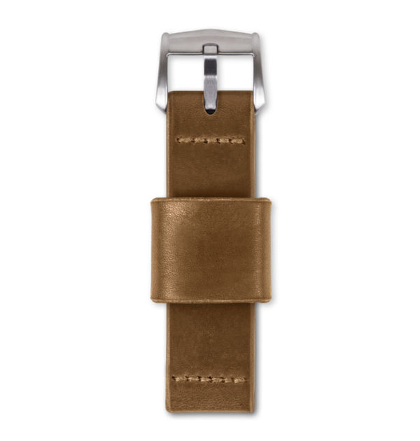 tan handmade watch strap top