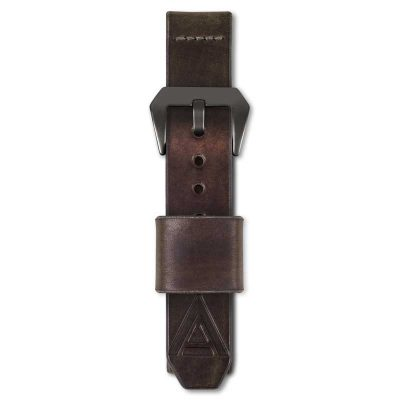 brown watch straps by WT Author fastened