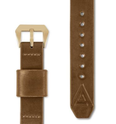 tan watch strap front
