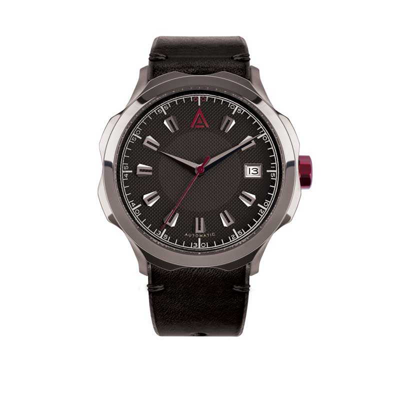 HANDMADE WATCHES FOR MEN BLACK STRAP Nº 1953 AUTOMATIC FRONT