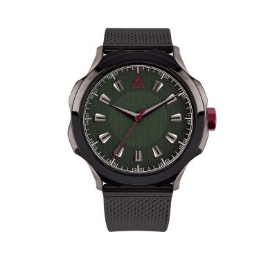 quartz dress watch GREEN MESH Nº 1953 FRONT