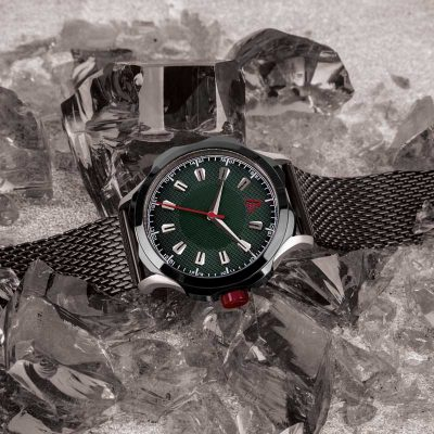 quartz dress watch GREEN MESH Nº 1953 HERO