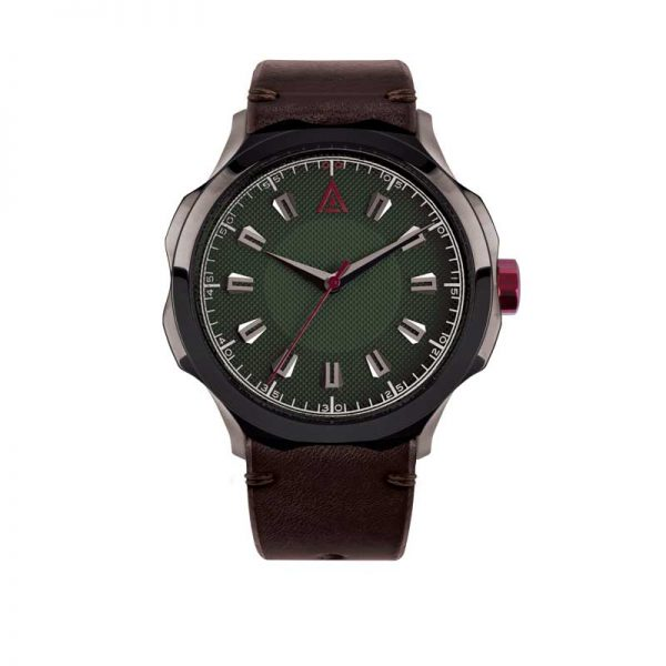 MEN'S CLASSIC WATCH GREEN STRAP Nº 1953 FRONT