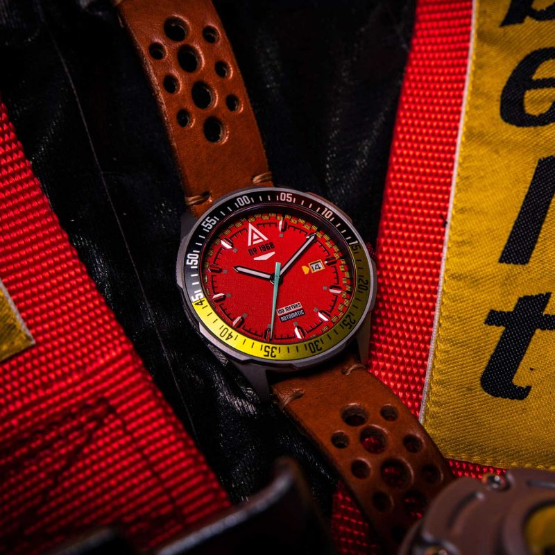automotive watch scarlet strap 1968 hero wt author