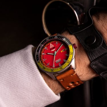 automotive watch scarlet strap 1968 wrist wt author