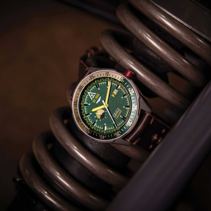 driving watches green1968 hero wt author