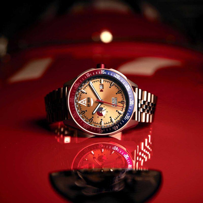 motorsport watches gold bracelet 1968 hero wt author
