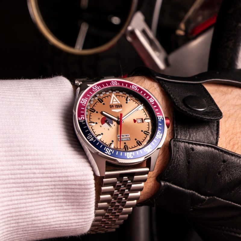 motorsport watches gold bracelet 1968 wrist wt author