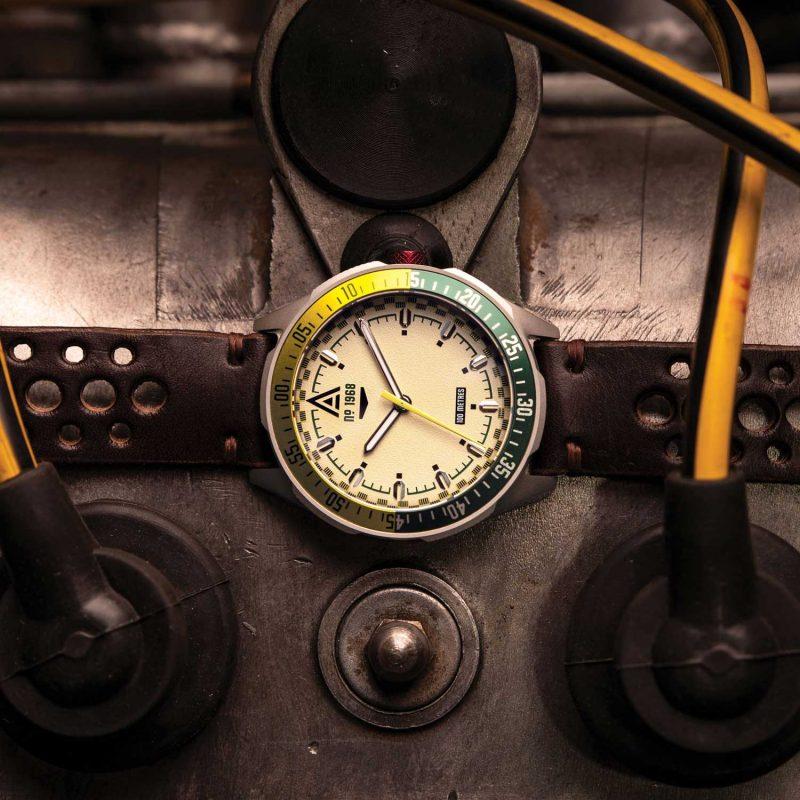 racer watch cream 1968 hero wt author