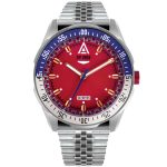 racing watch red bracelet 1968 front wt author