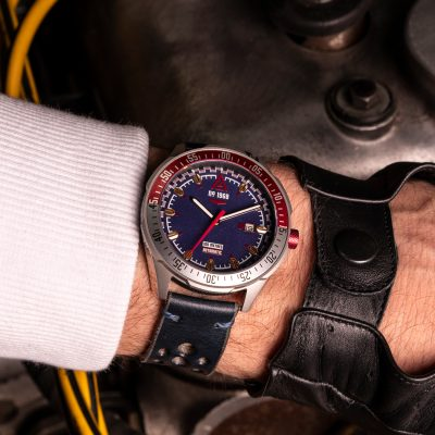 racing watches blue strap 1968 wrist shot wt author