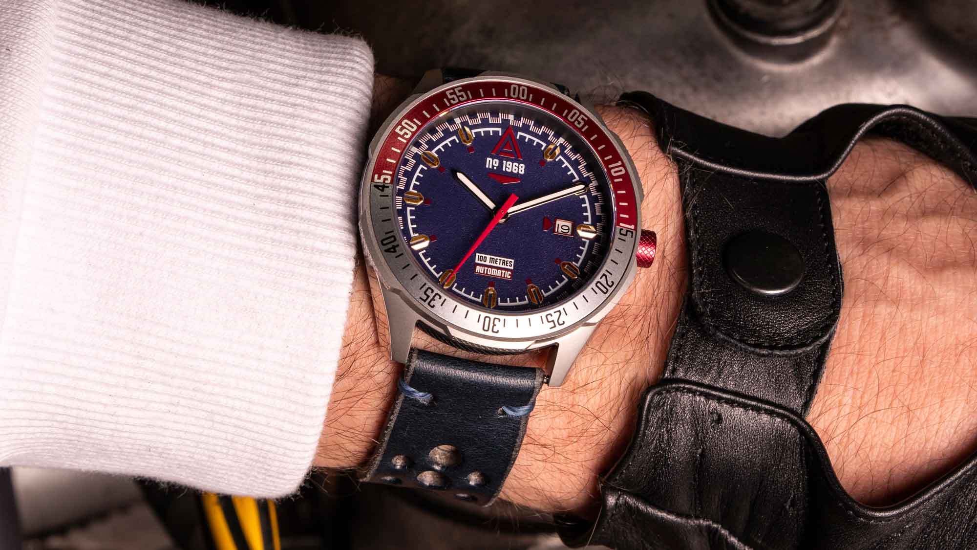 racing watches wt author blue no 1968 wrist shot