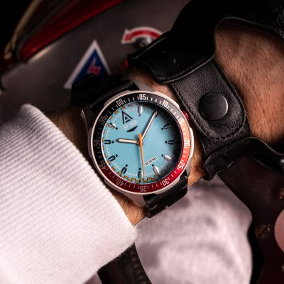 vintage racing watches cerulean bracelet 1968 wrist wt author