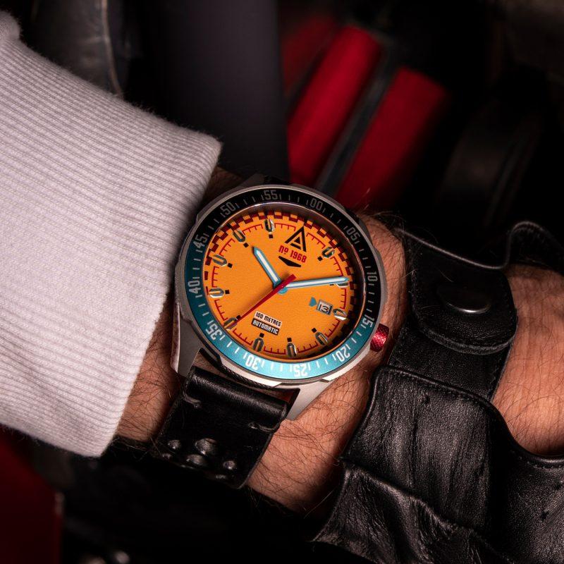 vintage racing watches orange 1968 wrist wt author