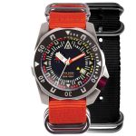 diving watch black dial both nylon nato strap wt author front